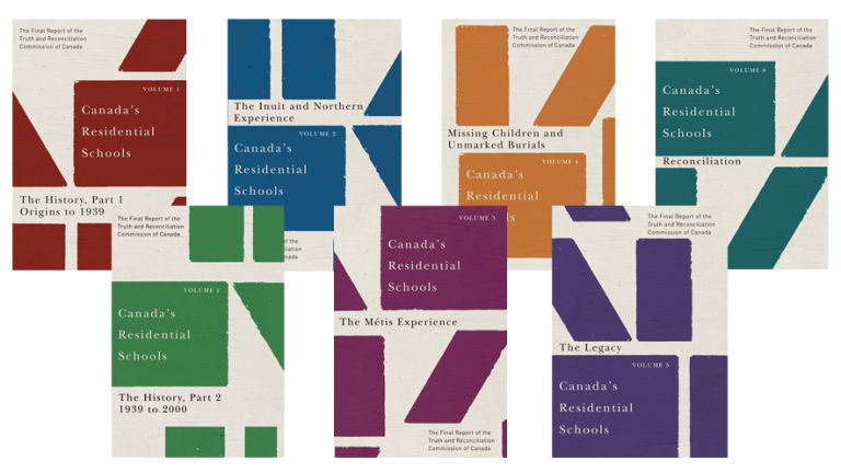 The seven volumes of the Final Report of the Truth & Reconciliation Commission